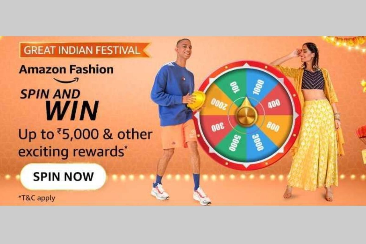 Amazon Fashion (Great Indian Festival) Spin and Win Quiz