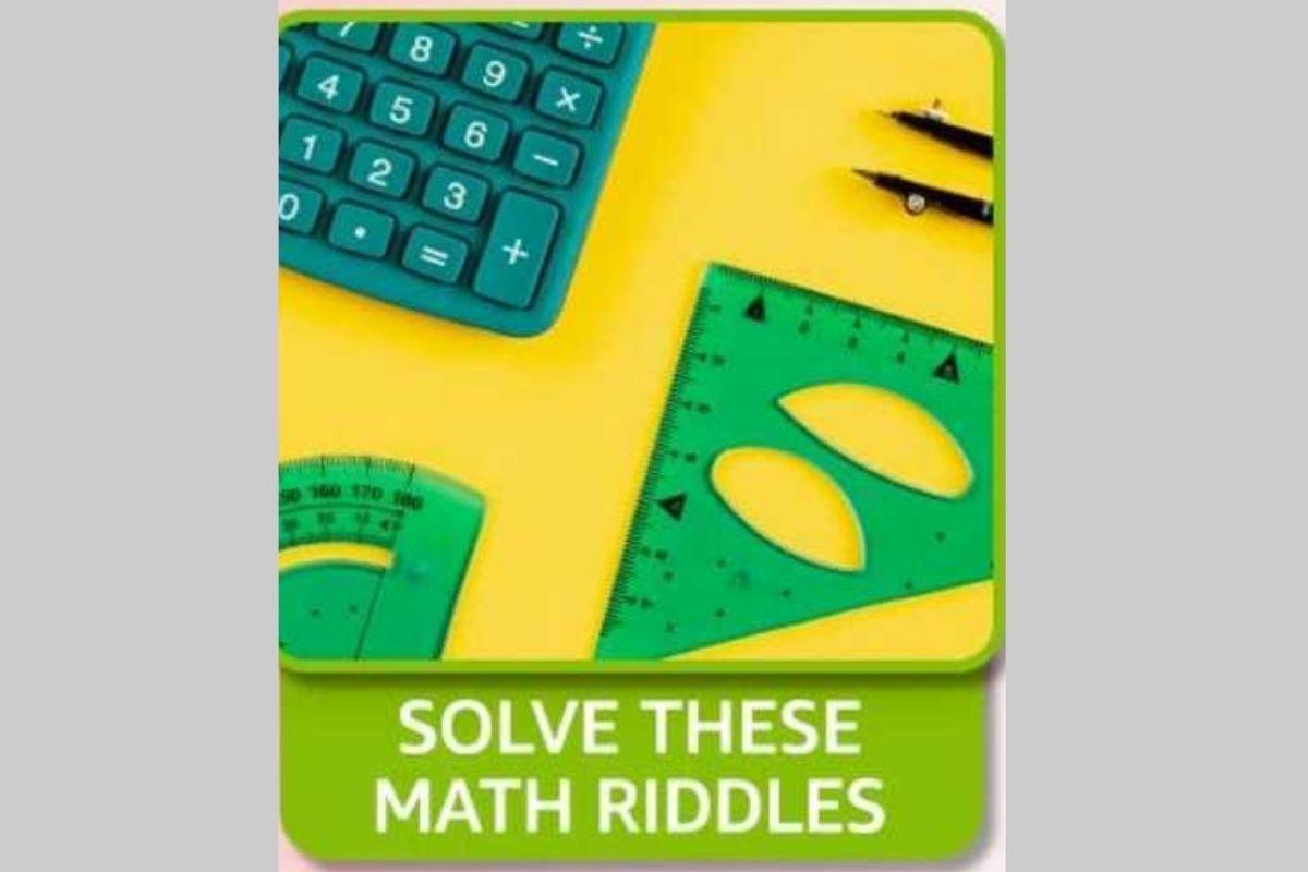 Amazon Solve These Math Riddles Quiz