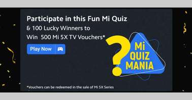 Flipkart Mi Quiz Mania