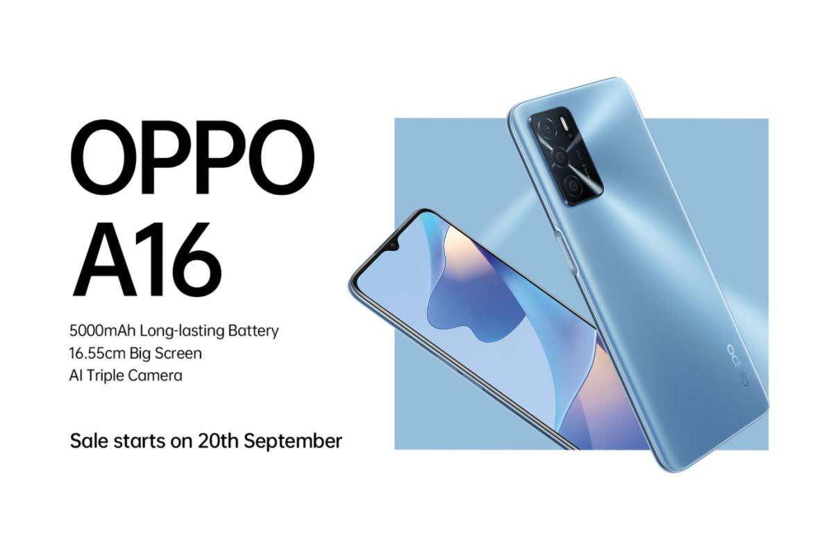 OPPO A16 sale date