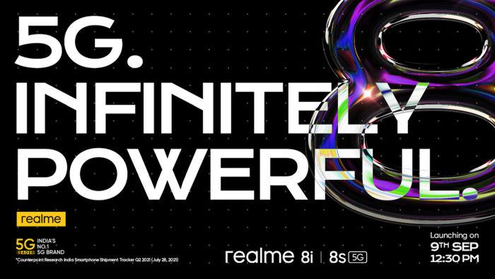 Realme 8s, Realme 8i India launch date
