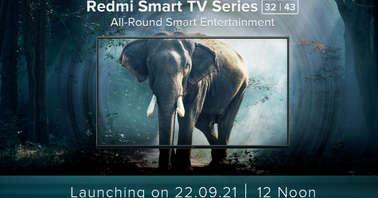Redmi TV launching on September 22