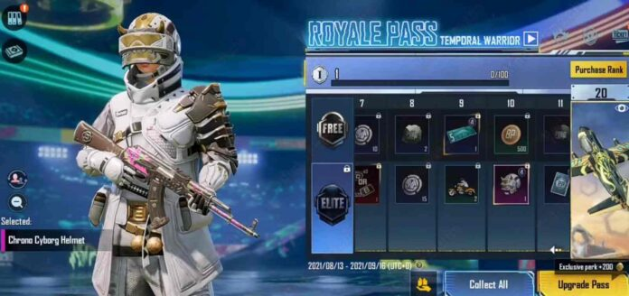 BGMI Royale Pass M4 Temporal Warrior now available