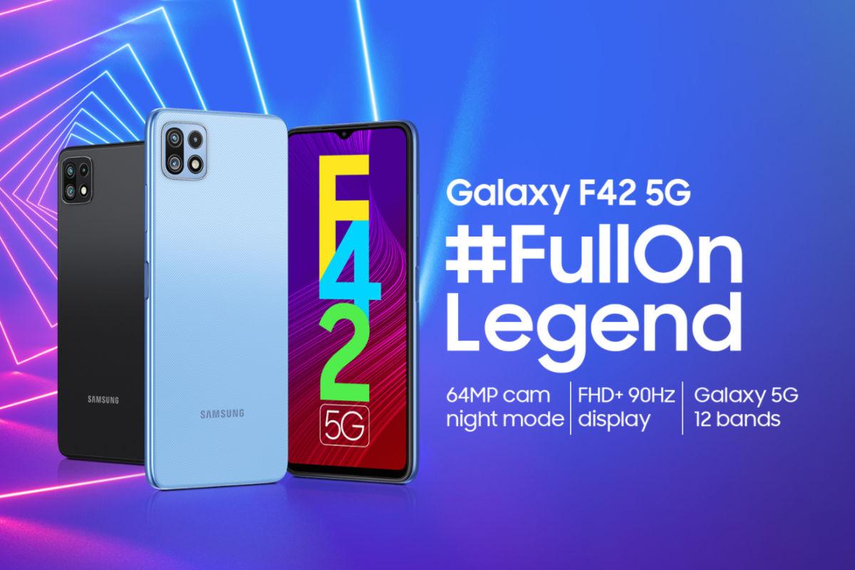 Samsung Galaxy F42 5G poster