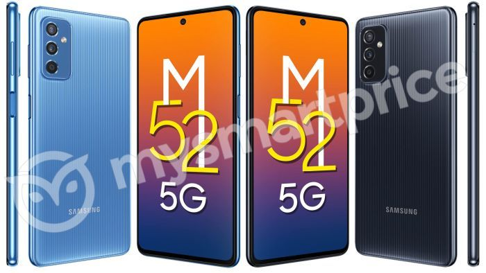 Samsung Galaxy M52 5G renders