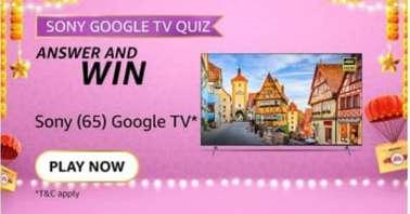 Amazon Sony Google TV Quiz
