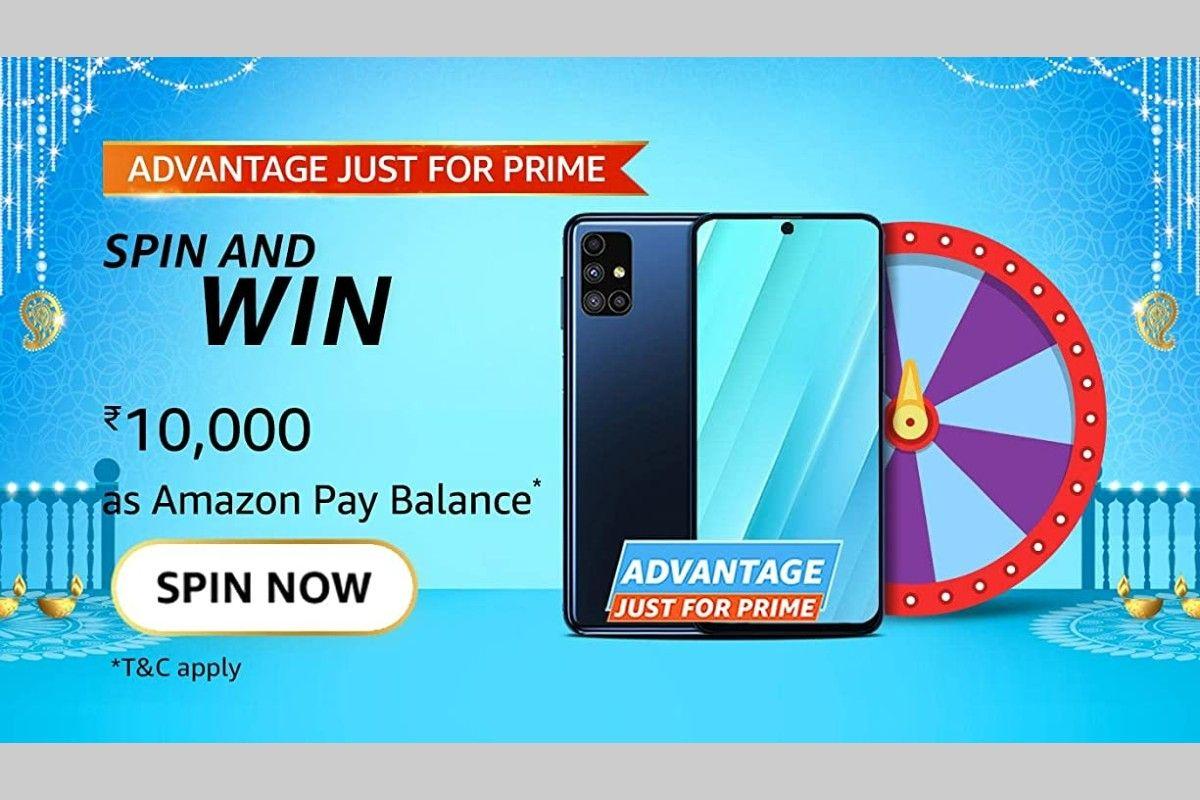 Amazon Advantage Just For Prime Spin and Win Quiz