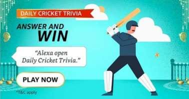 Amazon Alexa Daily Cricket Trivia Quiz