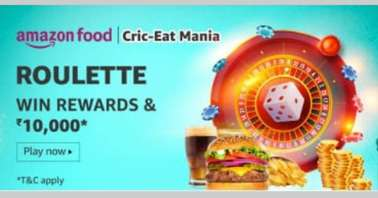 Amazon Food Cric-Eat Mania Roulette Quiz